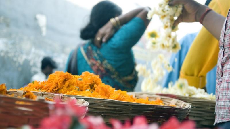 Dadar flower market - Photo credit Kiran Koduru